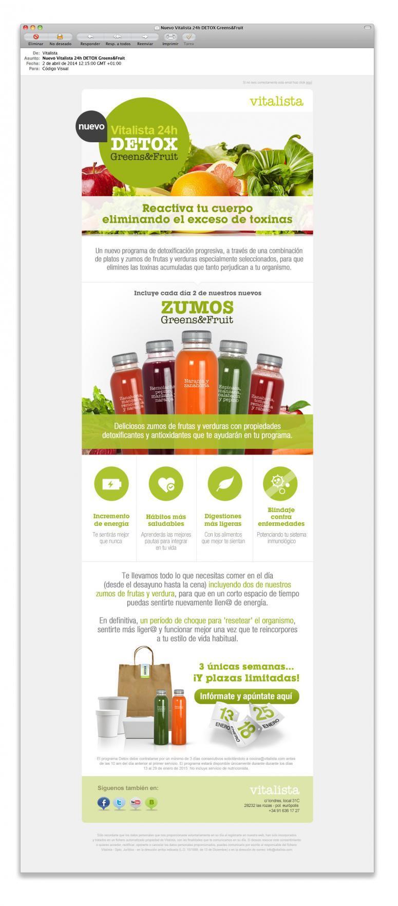 Vitalistas zumos detox