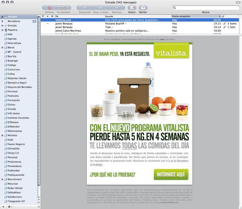 campaña de email marketing para la empresa vitalista en código visual