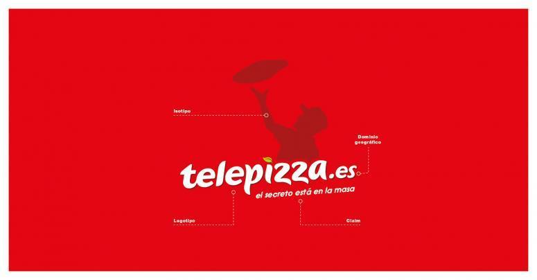 estructura del nuevo logo de telepizza
