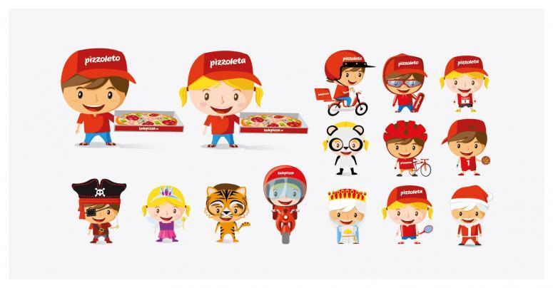 rebranding de la marca de comida telepizza creatividades
