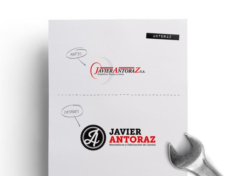 rebranding de Javier Antoraz obra de código visual