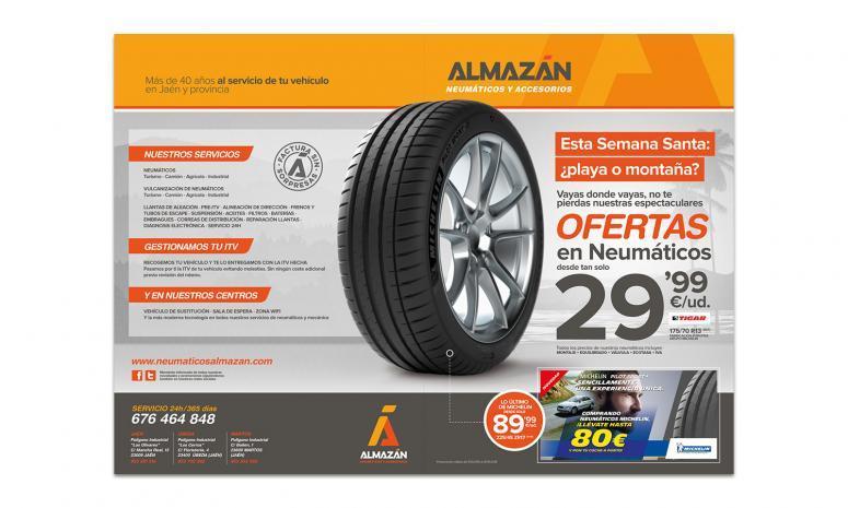 campaña promocional para almazán neumáticos y accesorios