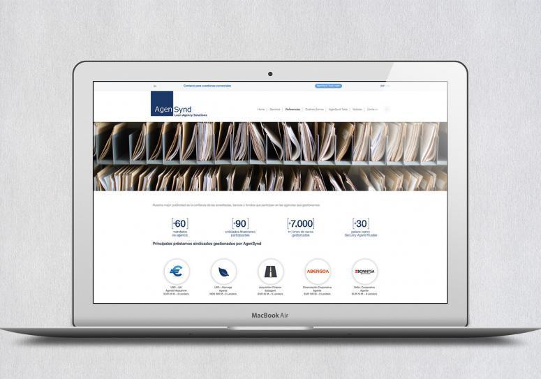 página web de la empresa agensynd
