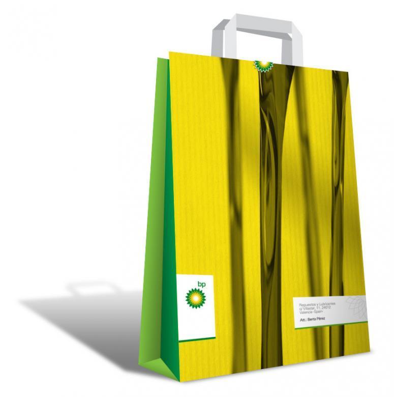 bolsa_papel para la campaña del nuevo aceite de BP