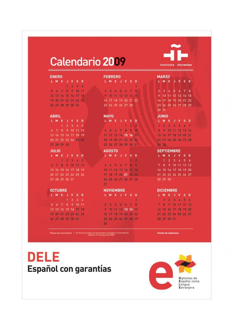 Calendario Dele del instituto cervantes