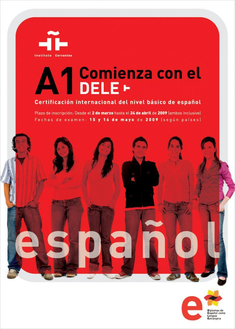 cartel del examen dele del instituto cervantes