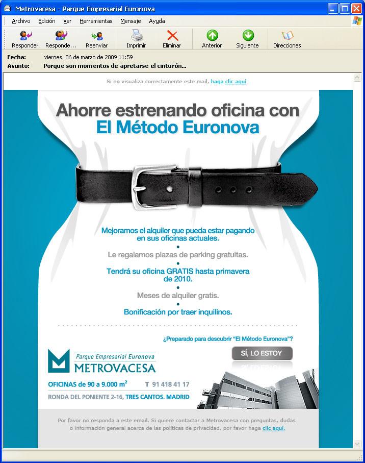 diseño de email marketing euronova