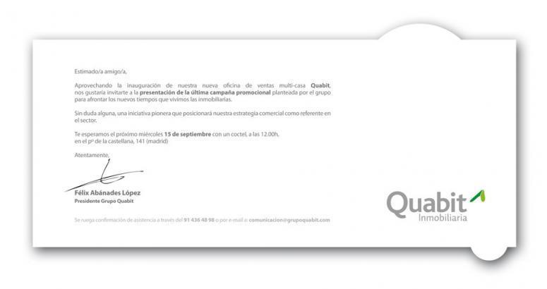 Inmobiliaria Quabit diseño para porfolo