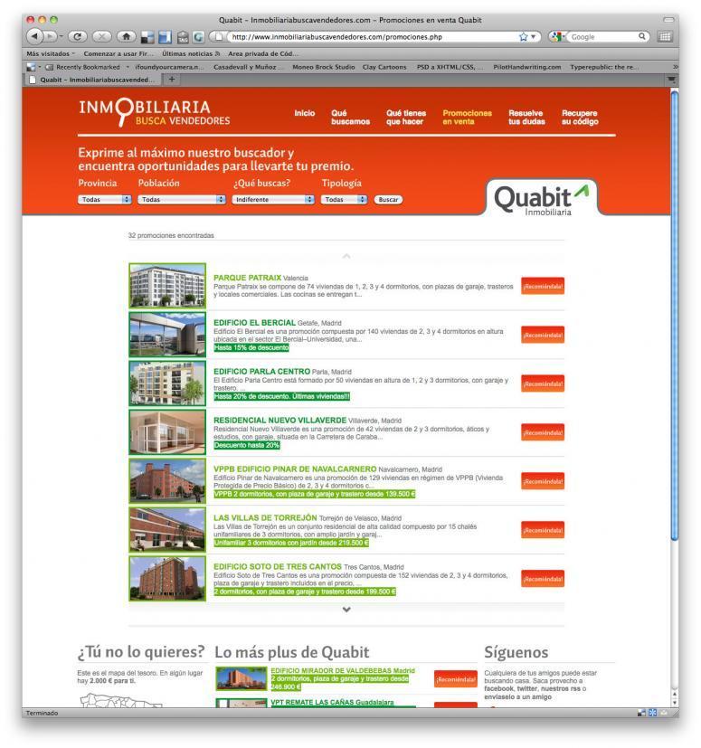 Inmobiliaria Quabit diseño web
