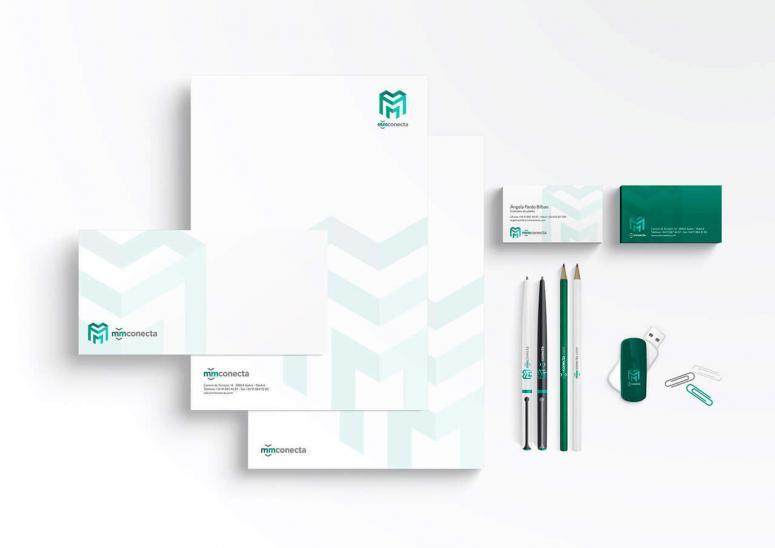 logo de mm conecta creado en código visual