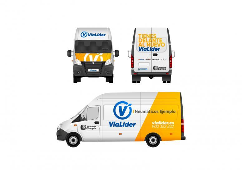 Identidad corporativa para los talleres vialider off line