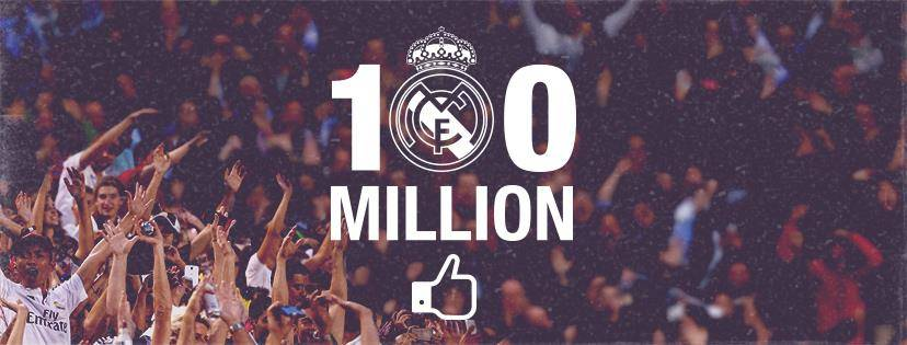 Celebración 100 millones de fan en facebook del real madrid