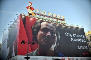 Campaña de narcos en puerta del sol en madrid