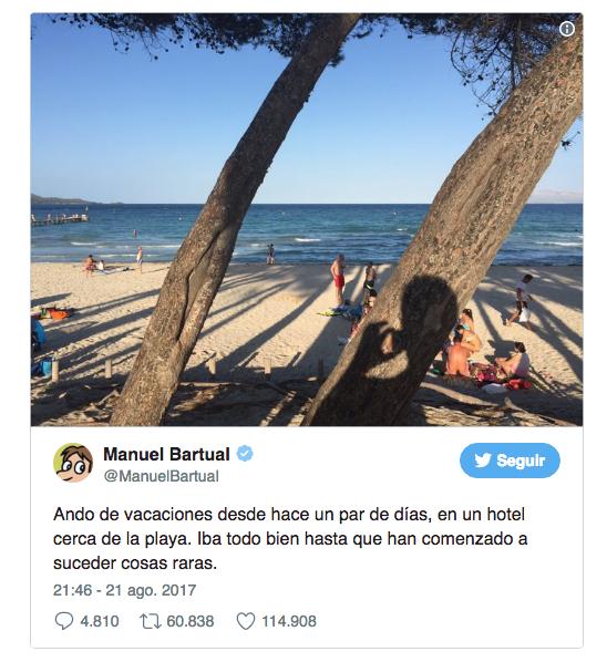Historia de Manuel Bartual en twitter